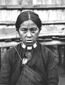 امرأة تايوانية من قبيلة الأتايال